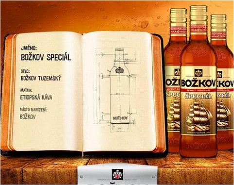 Inovace na trhu alkoholu: kávový rum Božkov